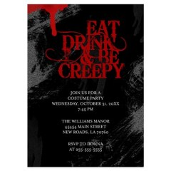 Eat Drink & Be Creepy Invitation