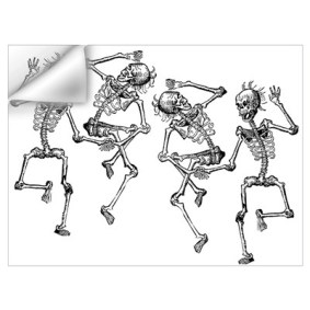 Dancing Skeleton Halloween Wall Decal