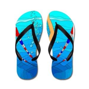 woman_swimming_flip_flops